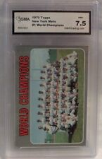 1970 TOPPS NEW YORK METS WORLD CHAMPIONS CARD #1- GRADED 7.5 NM+