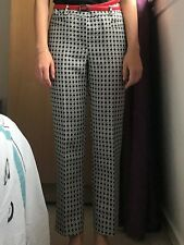 EXCELLENT NEW TROUSERS CAROLINA HERRERA, SIZE S,BLACK AND WHITE, LUXURY BRAND
