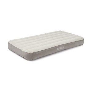 Deluxe Dura-Beam Twin Air Mattress without Pump, White