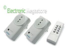 KIT 2 Prese di alimentazione telecomandata a distanza con telecomando wireless