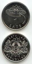 Letonia/Latvia - 1 lats 2008 UNC-Waterlily