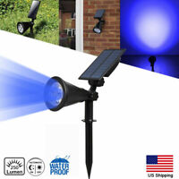 Solar Powered Spotlight Outdoor 4-LED Garden Lawn Landscape Path Wall Lamp US
