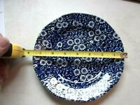 "STAFFORDSHIRE CALICO BLUE ROYAL CROWNFORD VINTAGE SALAD BREAD DESSERT PLATE 7.5"""