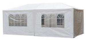Pavillon Partyzelt 3x6m Zelt Festzelt Bierzelt Gartenzelt weiß 6 Seitenteile