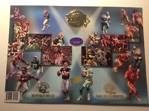 1994 Press Pass Super Bowl Limited Edition Card -Cowboys and Buffalo Bills qty 2