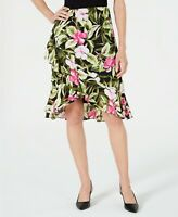 Kasper Women's Ruffled Floral-Print Skirt, Multicolored, Size 16 - XL, NwT