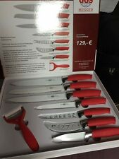 GGS Colorline 8 pieces knives . RED ( SET) - AUTHENTIC