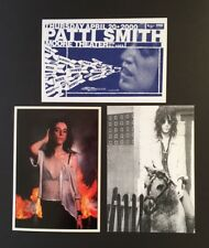 Patti Smith *Collection of Three Postcards - ALL SIGNED BY SMITH* - SCARCE