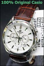 EFR-517L-7A Weiß Genuine Casio Herrenuhr Edifice Tachymeter Datumsanzeige Neu