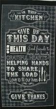 Give Us This Day Our Daily Bread Charcoal Quilting Treasures Fabric Panel SALE