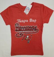 Tampa Bay Buccaneers NFL Team Apparel Youth Girls V-Neck Tee Shirt XS (4/5)