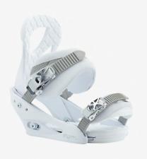 Brand New 2019 Womens Burton Stiletto Re:Flex Snowboard Bindings Blanca Medium