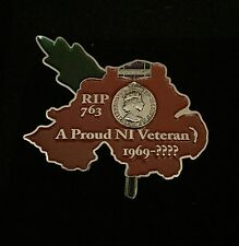 NORTHERN IRELAND HM ARMED FORCES APPRECIATION LAPEL PIN BADGE