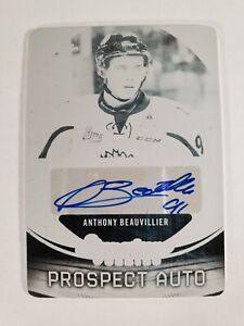 2015-16 Leaf Signature Series Anthony Beauvillier Rookie Plate Auto 1/1 Black