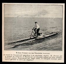1903  --  M JOHN FORREST SUR SON VELOCIPEDE FLOTTANT  3N112