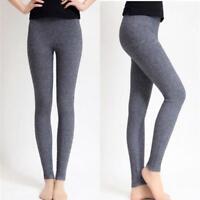 Womens 97% Cashmere Wool Leggings Snug Seamless Pants Thick New Winter Warm Hot