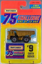 Matchbox MB 9 Earth Mover Gold 75 Challenge 1997 NEW - FREE SHIPPING