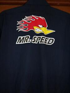MR. Speed Hotrod Mechanic~Shop Shirt Used/Recycled Size Large