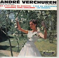 45TRS VINYL 7''/ FRENCH EP ANDRE VERCHUREN / PRINTEMPS, AVRIL EUROVISION 1961