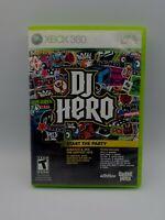 DJ Hero (Microsoft Xbox 360, 2009) with manual