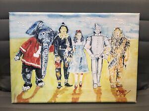 ORIGINAL PAINTED ART by RICHARD RUSSELL Big Al crimson tide Alabama Wizard of Oz