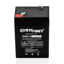 ExpertPower 6V 4.5AH Rechargeable Sealed Lead Acid (SLA) Battery Exit Light