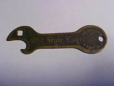 Circa 1915 Old Style Beer Brass Opener Wisconsin vintage