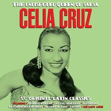 Celia Cruz UNDISPUTED QUEEN OF SALSA Best Of 50 Songs LATIN MUSIC Cuban NEW 2 CD