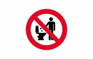 Sticker Adhesive Signalling Panel Prohibited Jetter Wc Toilet