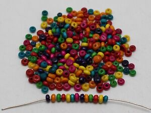 """2000 Mixed Color 3mm(0.12"""") Round Wood Beads~Wooden Mini Spacer beads"""
