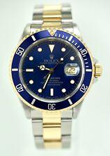 Rolex submariner date oro acero inoxidable automático ref. 16613 box los folletos