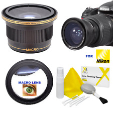 55MM .X40 FISHEYE LENS + 5X MACRO LENS + CLEANING KIT FOR NIKON D3400 D5600