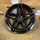 20x11 W599 D1584  Et73 5x120.7 Cb70.3 Matt Black Corvette Wheels Set Of 4