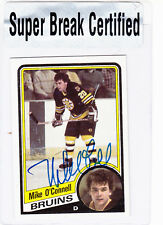 1984-85 Topps - SUPER BREAK CERTIFIED AUTOGRAPH - Mike O'Connell