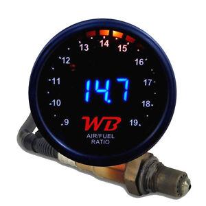 APSX V2 Anti-Glare D2 Digital Wideband O2 AFR Gauge & Sensor Kit Black & BLUE