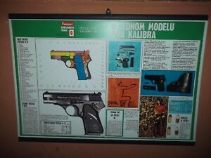 Yugoslavia JNA army pistol M70 7,65mm and 9mm poster