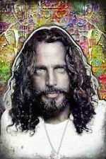 CHRIS CORNELL 20x30in Tribute Poster, SOUNDGARDEN Cornell Portrait Free Shipping