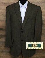 Joseph Abboud Men's Wool Black & Cream 2-Button Blazer Sport Coat Jacket USA 42R