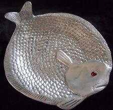 1986 Arthur Court Small Flounder/ Fish Plate w/ Red Eye  - Item #10-34