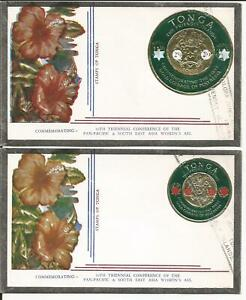 TONGA COIN  SOUTH EAST ASIA WOMAN ASSOCIATION ANNIVERSARY COVER (2)