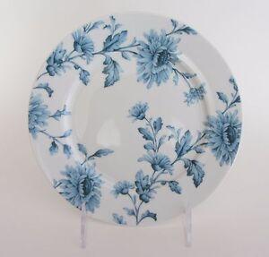 "SPODE Home Vintage Denim 7.5"" SALAD PLATE - Set of 4 NEW Blue Flowers on White"