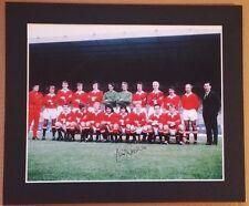 """1971 - 72 Manchester United Signé couleur photo 12"""" X 10"""" à mount X 6 signé"""