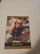 1990 PRO SET PGA TOUR GOLF SPECIAL INAUGURAL HAL SUTTON AUTOGRAPHED RC #49