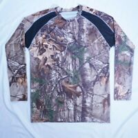 REALTREE Mens Camo Camouflage Pattern Long Sleeve T Shirt Tee - Size Small S