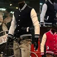 Mens Unisex Fashion Designed College Baseball Varsity Bomber Jacket Coat Tops