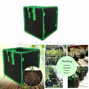 1PC Square Fabric Grow Pots Aeration Plant Planter Bags Root Garden Container