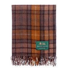 BORDER TWEEDS Knee Travel Rug Blanket Wool Tartan - Natural Buchanan