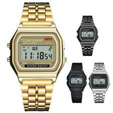 Waterproof SYNOKE Men's Stainless Steel LED Digital Sport Watch Alarm Wristwatch
