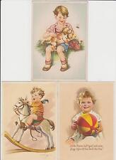 Schöne Künstlerkarten ! Kinder mit Tieren ! 3 Stück !