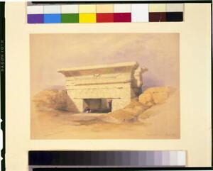 Photo:Dendera Decr. 1838,David Roberts,Gateway,photograph,Egypt & Nubia 2497